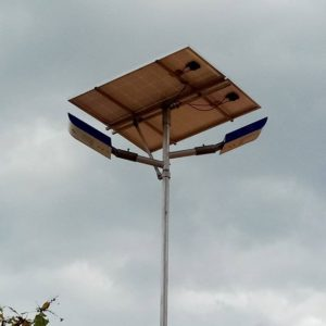 one lamp with solar panel, charger control battery and switch